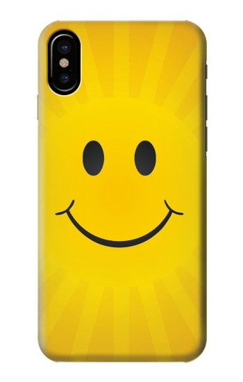 Printed Yellow Sun Smile HTC One M9+ Case