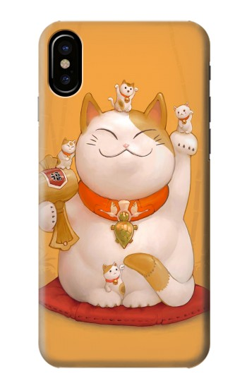 Printed Maneki Neko Lucky Cat HTC One M9+ Case