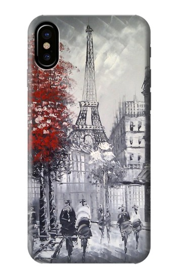 Printed Eiffel Painting of Paris HTC One M9+ Case