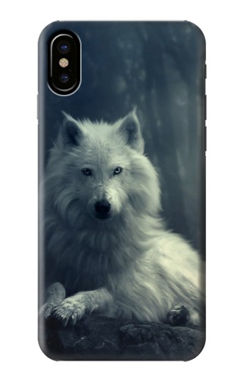 Printed White Wolf HTC One M9+ Case