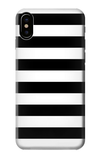 Printed Black and White Striped HTC One M9+ Case