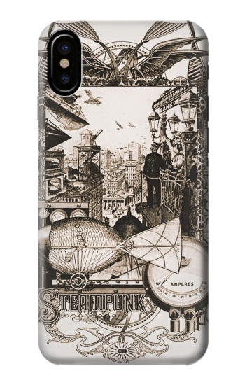 Printed Steampunk Drawing HTC One M9+ Case
