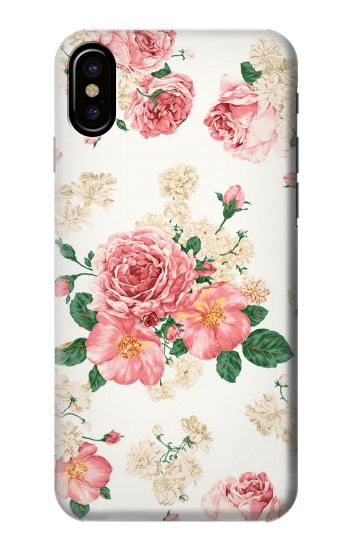 Printed Rose Pattern HTC One M9+ Case