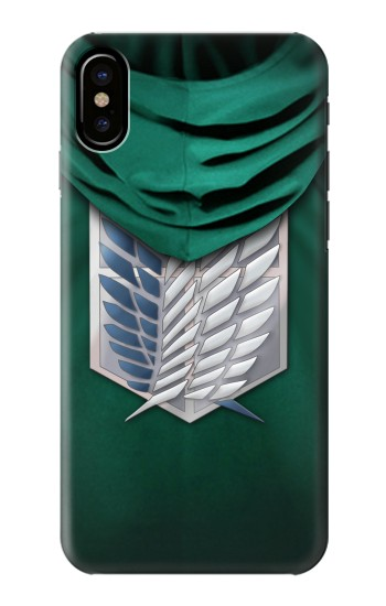 Printed Attack on Titan Scouting Legion Rivaille Green Cloak HTC One M9+ Case