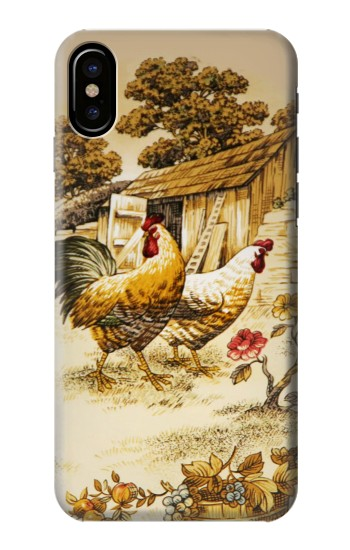 Printed French Country Chicken HTC One M9+ Case