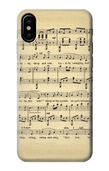 Printed Vintage Music Sheet HTC One M9+ Case