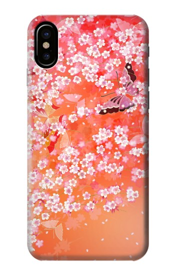 Printed Japanese Style Flower Pattern HTC One M9+ Case
