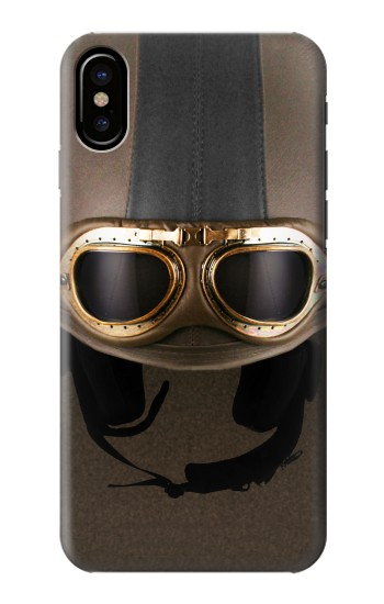 Printed Vintage Brown Goggles Helmet HTC One M9+ Case