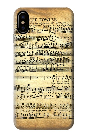 Printed The Fowler Mozart Music Sheet HTC One M9+ Case