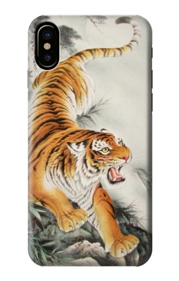 Printed Chinese Tiger Tattoo Painting HTC One M9+ Case