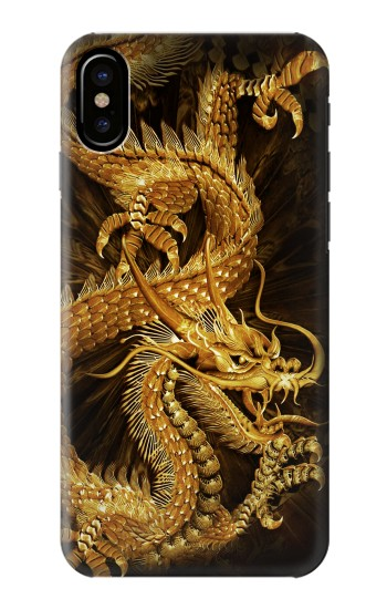 Printed Chinese Gold Dragon Printed HTC One M9+ Case