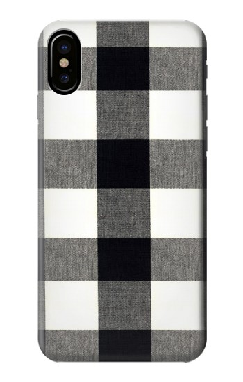 Printed Black and White Buffalo Check Pattern HTC One M9+ Case
