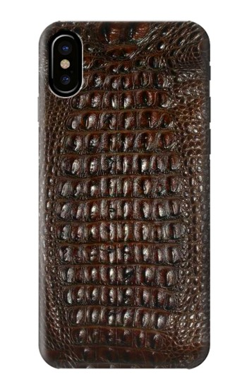 Printed Brown Skin Alligator Graphic Printed HTC One M9+ Case