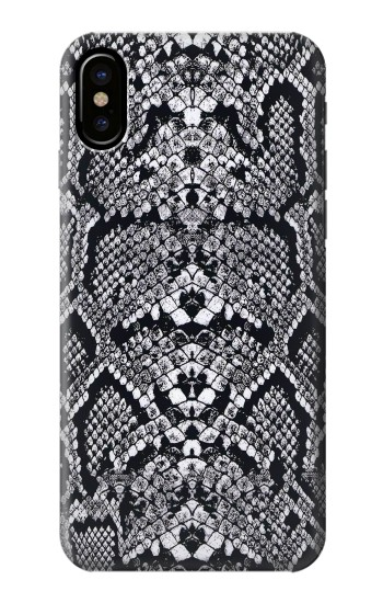 Printed White Rattle Snake Skin HTC One M9+ Case