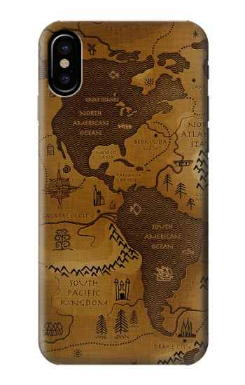 Printed Antique Style Map HTC One M9+ Case