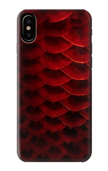 Printed Red Arowana Fish Scale HTC One M9+ Case