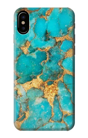 Printed Aqua Turquoise Stone HTC One M9+ Case