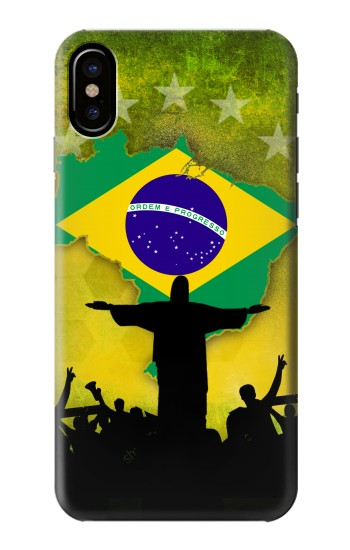 Printed Brazil Football Flag HTC One M9+ Case