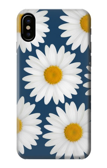 Printed Daisy Blue HTC One M9+ Case