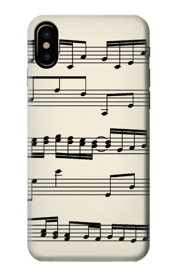 Printed Music Sheet HTC One M9+ Case