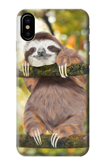 Printed Cute Baby Sloth Paint HTC One M9+ Case