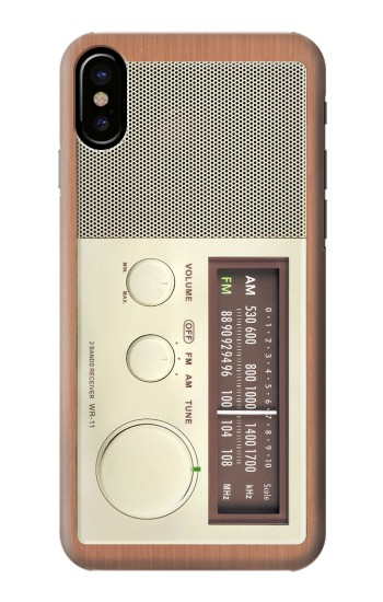 Printed FM AM Wooden Receiver Graphic HTC One M9+ Case