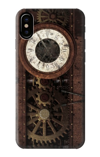 Printed Steampunk Clock Gears HTC One M9+ Case