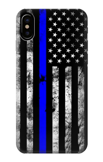 Printed Thin Blue Line USA HTC One M9+ Case
