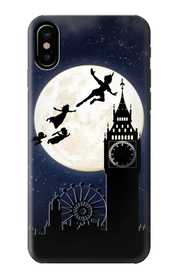 Printed Peter Pan Fly Fullmoon Night HTC One M9+ Case