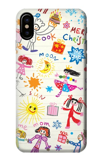 Printed Kids Drawing HTC One M9+ Case