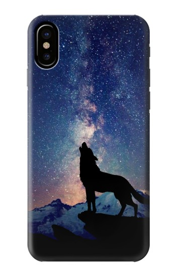 Printed Wolf Howling Million Star HTC One M9+ Case