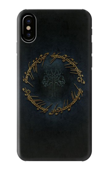 Printed Lord of The Rings Ring Elf Writing HTC One M9+ Case