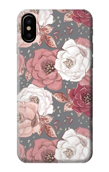 Printed Rose Floral Pattern HTC One M9+ Case