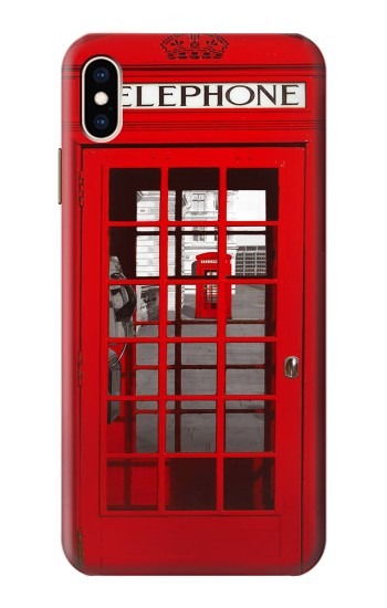 Printed Classic British Red Telephone Box iPhone XS Max Case