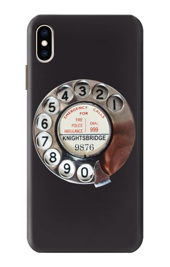 Printed Retro Rotary Phone Dial On iPhone XS Max Case