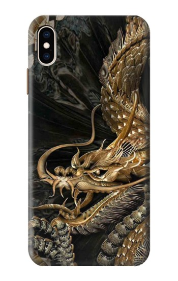 Printed Gold Dragon iPhone XS Max Case