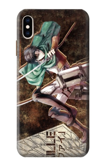 Printed Attack on Titan Rivaille iPhone XS Max Case