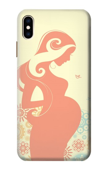 Printed Pregnant Art iPhone XS Max Case