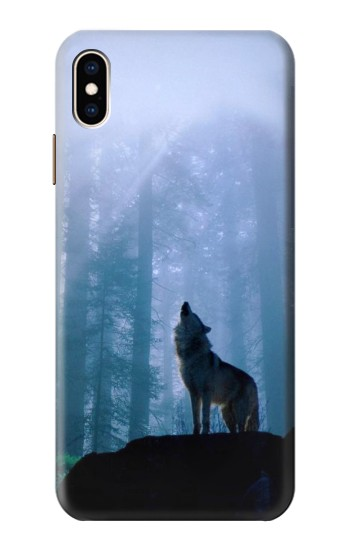 Printed Wolf Howling in Forest iPhone XS Max Case