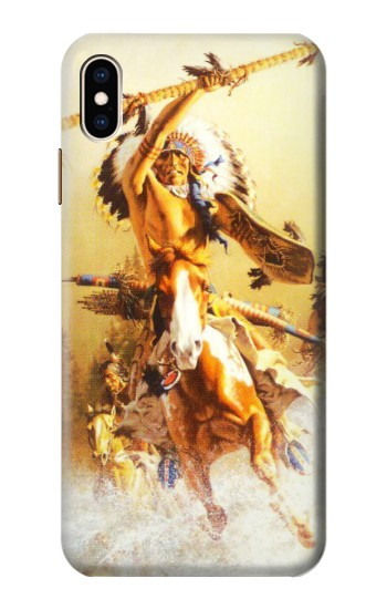 Printed Red Indian Warrior iPhone XS Max Case