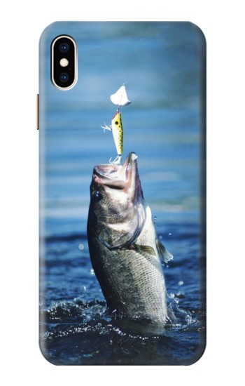 Printed Bass Fishing iPhone XS Max Case