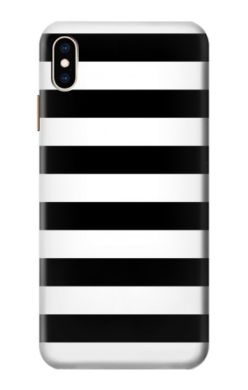 Printed Black and White Striped iPhone XS Max Case