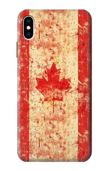 Printed Canada Flag Old Vintage iPhone XS Max Case