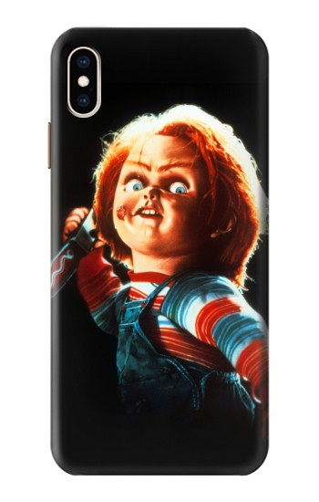Printed Chucky With Knife iPhone XS Max Case