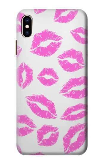 Printed Pink Lips Kisses iPhone XS Max Case