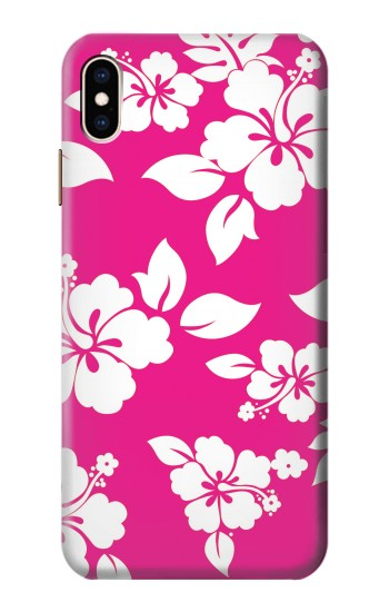 Printed Hawaiian Hibiscus Pink Pattern iPhone XS Max Case