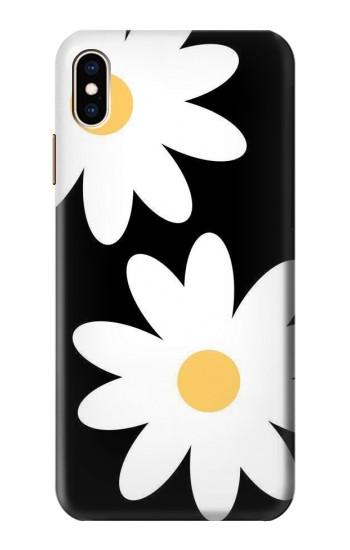 Printed Daisy White Flowers iPhone XS Max Case