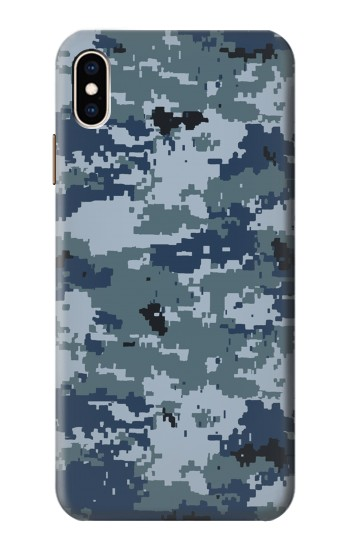 Printed Navy Camo Camouflage Graphic iPhone XS Max Case