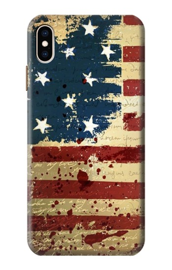 Printed Old American Flag iPhone XS Max Case
