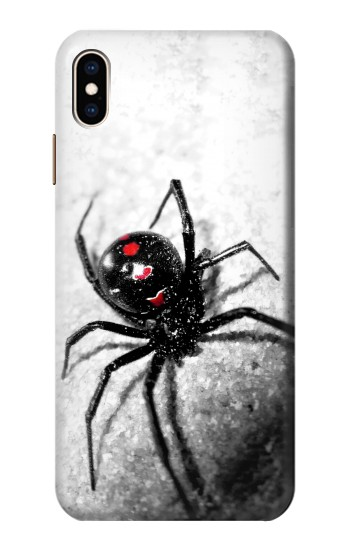 Printed Black Widow Spider iPhone XS Max Case